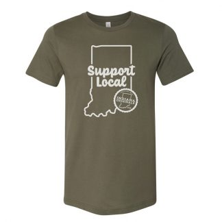 Military Green Support Local Tee