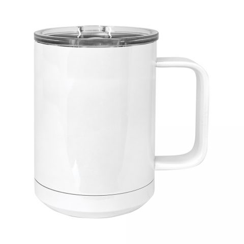 15oz Stainless Mug, White